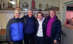 Carol Rhynold (spare), Paula Doibson, Iris Stanley, and Marion Brow (spare).