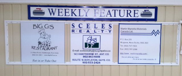 Sponsors for the Adult/Junior Spiel were Big G's Pizza, Sceles Realty, and Martin Marietta Materials Canada.