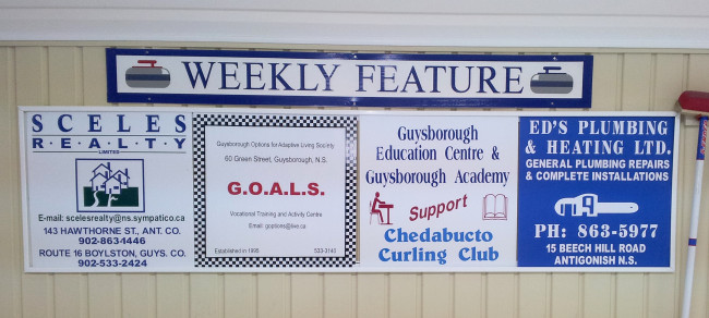 Sponsors of the week Mar. 17-23: Sceles Realty, GOALS, Guysborough Academy, and Ed's Plumbing & Heating