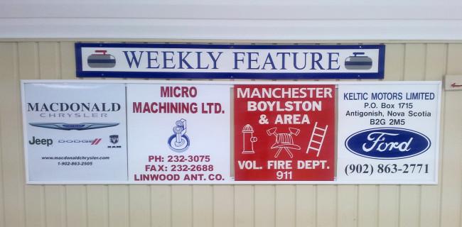 MacDonald Chrysler, Micro Machining Ltd., Manchester-Boylston Fire Department, and Keltic Ford.