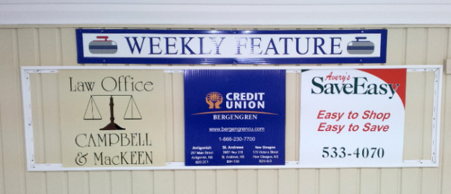 Campbell & MacKeen, Bergeneron Credit Union, and Avery's Save Easy.