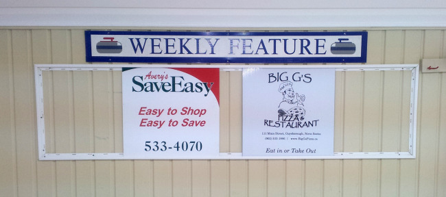 Sponsors for the week of Dec 15-21 are Avery's Save Easy and Big G's Pizza & Restaurant
