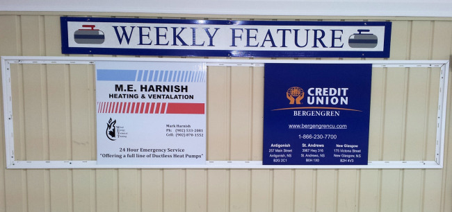 Sponsors of the week for Dec 1 to 7th are M.E. Harnish Heating & Ventilation and Bergengren Credit Union