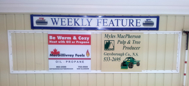 Sponsors of the week for Nov. 10-17 are MacGillivray Fuels and Myles MacPherson Pulp & Tree Producer