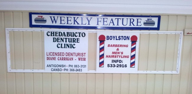 Our sponsors this week are Chedabucto Denture Clinic and Mels' Barbershop.