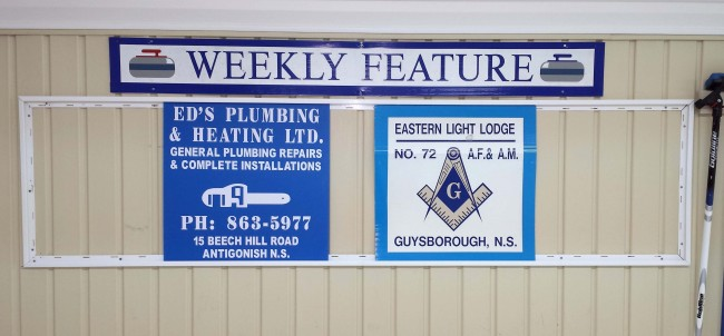 This weeks sponsors are Ed's Plumbing & Heating Ltd. and the Eastern Light Lodge