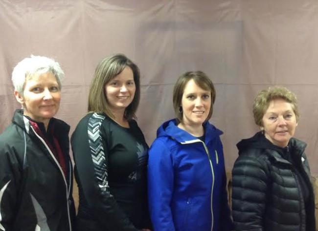 Team Dobson: Paula Dobson, Shauna Brymer, Krista MacEachren, and Iris Stanley.
