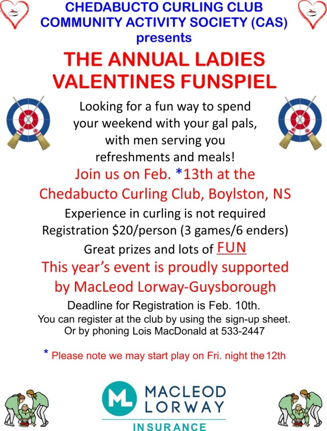 Our Valentines Ladies FUNspiel poster.