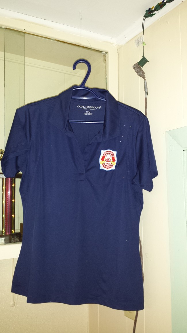 Ladies golf shirt for sale.