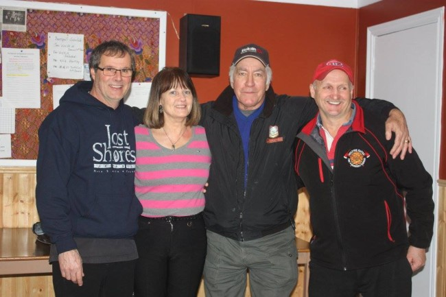 Team Luddington with Wayne Hyam, Mabel Luddington-Hyam, Kenny O'Leary and skip George Luddington.