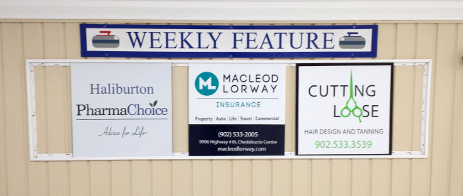 Our featured sponsors of the week for Feb 8-12 are Haliburton Pharmacy, MacLeoad Lorway, and Cutting Loose.