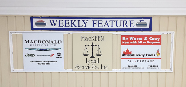 Our featured sponsors of the week for Mar. 14-18 are McDonald Chrysler, MacKeen Legal Services Inc., and MacGillivray Fuels.