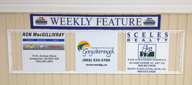 Our weekly featured sponsors for Mar. 28 - Apr. 1 are Ron MacGillivrays Chev Olds, MODG, and Sceles Realty.