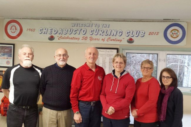 New Executive for 2016_17 is Phil O'Regan (Vice President), Mike Nicholson (Member at Large), Ray Bates (President), Holly Narhebecky (Treasurer), Lois MacDonald (Member at Large), and Kay CHisholm (Secretary). Missing from photo is Paula Dobson (Past President).