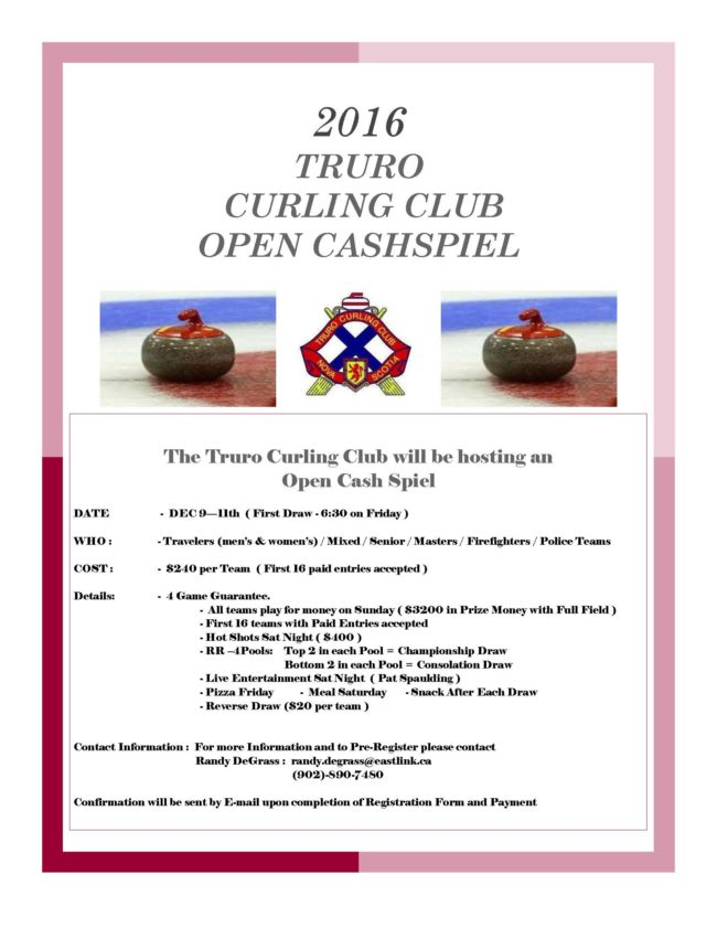 Poster for Truro Cashspiel.