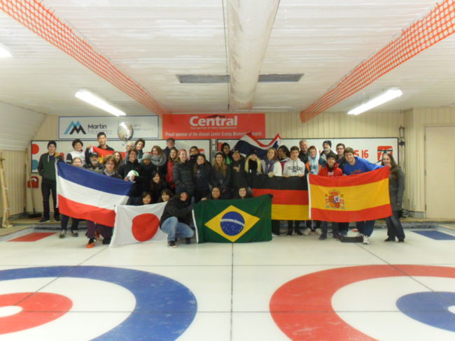 International Students at the rink..